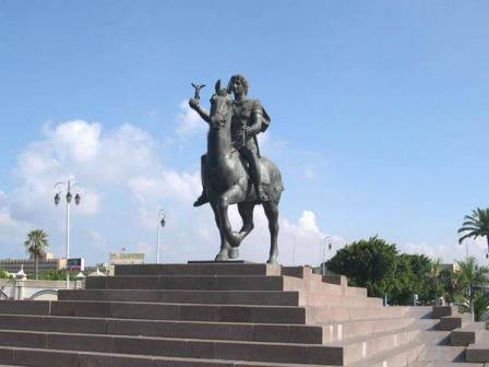 statue of Alexander the Great in Alexandria