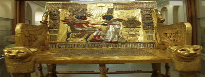 Tuthankhamuns Gold Throne Low Cost Travel Packages To Egypt