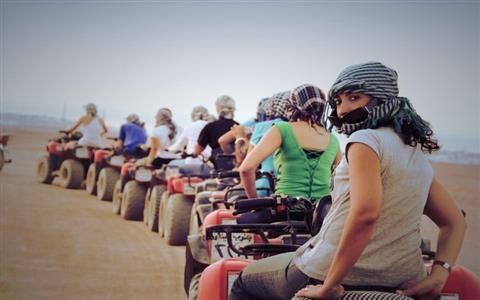 Sunset Desert Safari by Quad Bikes in Luxor